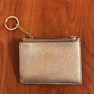 Coach gold change/ ID purse